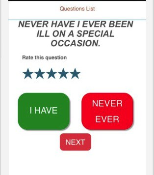 Never Have i ever app