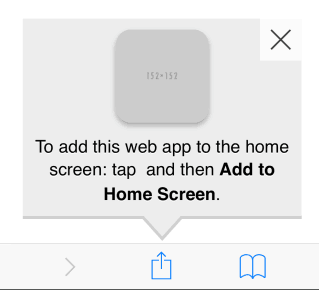 add to home screen for Apple